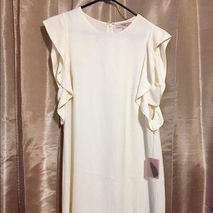Short Ivory Ruffle Dress Large